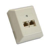 InLine 69988B InLine® ISDN Anschlussdose, 2x RJ45 Buchse, Aufputz, Schraubanschluss 2x 8-fach