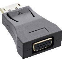 InLine 17196C InLine® DisplayPort Konverter, DisplayPort Stecker auf VGA Buchse, FullHD/60Hz, schwar