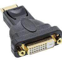 InLine 17199J InLine® DisplayPort Adapter, DisplayPort Stecker auf DVI-D 24+1 Buchse, schwarz