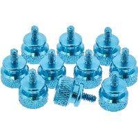 InLine 77770B InLine® Rändelschrauben für Gehäuse, Alu, blau, 10er Pack