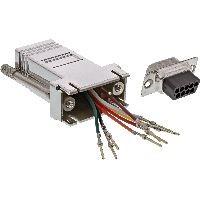 InLine 68889M InLine® Adapter, 9pol Sub D Stecker an RJ45 Buchse, metallisiert