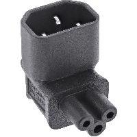 InLine 16723G InLine® Netzadapter IEC 60320 C14 / C5, oben/unten gewinkelt, 3pol. Kaltgeräte / Noteb