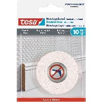 tesa 77742-00000-00 tesa Montageband, 1,5m x 19mm, für Tapeten und Putz, bis zu 10kg/m, weiß