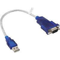 InLine 33304 InLine® USB zu Seriell Adapterkabel, Stecker A an 9pol Sub D Stecker