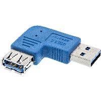 InLine 35300M InLine® USB 3.0 Adapter, Stecker A auf Buchse A, links gewinkelt 90°