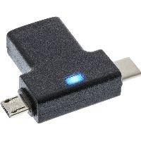 InLine 35804 InLine® USB 3.1/2.0 OTG T-Adapter, Typ C Stecker oder Micro-USB an A Buchse