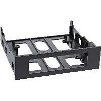 InLine 03700B InLine® Floppy-Einbaurahmen mit Schrauben, schwarz