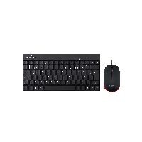 Perixx PERIDUO-212 Perixx PERIDUO-212 DE, Mini USB-Tastatur und Maus Set, schwarz