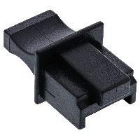InLine 59942C InLine® Staubschutz, für RJ45 Buchse, Farbe: schwarz, 10er Blister