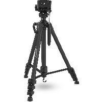 InLine 48015B InLine® Stativ für Digitalkameras und Videokameras, Aluminium, schwarz, Höhe max. 1,56