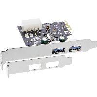 InLine 76666F InLine® Schnittstellenkarte, 2x USB 3.0, PCIe, inkl. Low-Profile Slotblech
