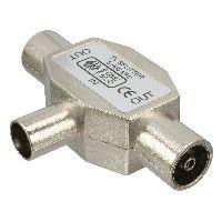 InLine 69914A InLine® Antenne T-Verteiler für Radio, 1x Koax Stecker an 2x Koax Buchse