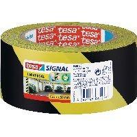 tesa 58133-00000-00 tesa Signalmarkierungsklebeband universal, 66m x 50mm, gelb/schwarz