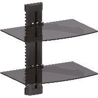 InLine 23151B InLine® Wandhalterung, für DVD, Bluray, Sat-Receiver, bis 8kg, schwarz
