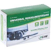 InLine 43214A InLine® Universal Reinigungstücher nass/trocken für Kopfhörer und Monitore