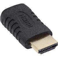 InLine 17691G InLine® HDMI Adapter, HDMI A Stecker auf Mini HDMI C Buchse, 4K2K kompatibel, vergolde