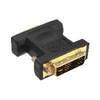 InLine 17780P InLine® DVI-A Adapter, Analog 12+5 Stecker auf 15pol HD Buchse (VGA), vergoldet