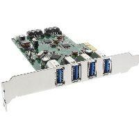 InLine 76664C InLine® Schnittstellenkarte, 4x USB 3.0 + 2x SATA 6Gb/s, PCIe, inkl. Low-Profile Slotb