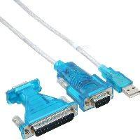 InLine 33396 InLine® USB zu Seriell Adapterkabel, USB Stecker A an 9pol Stecker, 1,8m, mit 9-25pol A