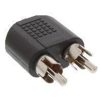 InLine 99343 InLine® Audio Adapter, 3,5mm Klinke Buchse Stereo an 2x Cinch Stecker