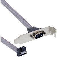 InLine 33208C InLine® Serielles Slotblech, Low-profile, 9-pol Stecker an 10-pol Buchsenleiste, 0,6m,