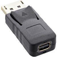 InLine 17196A InLine® DisplayPort Adapter, DisplayPort Stecker auf mini DisplayPort Buchse, 4K/60Hz,