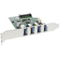 InLine 76661C InLine® Schnittstellenkarte, 4x USB 3.0, PCIe, inkl. Low-Profile Slotblech, mit SATA S