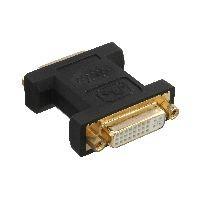 InLine 17781P InLine® DVI-I Adapter, Digital + Analog 24+5 Buchse / Buchse, vergoldet