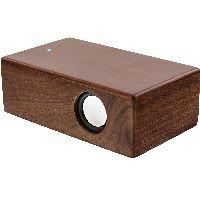 InLine 55381H InLine® woodbrick, Induktionslautsprecher im Echtholzgehäuse, Walnuss