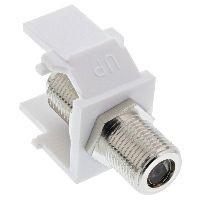 AOHN 76202E Keystone Einbauadapter, Verbindungskupplung für Sat-Kabel, 2x F-Buchsen, weiß