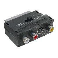 InLine 89953 InLine® Scart Adapter, Scart (in/out) an 3x Cinch Buchse und 1x S-VHS Buchse