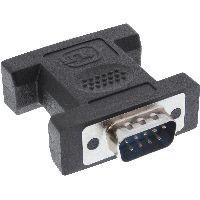 InLine 32214I InLine® Mini-Gender-Changer, 9pol Stecker / Stecker, lange Bauform