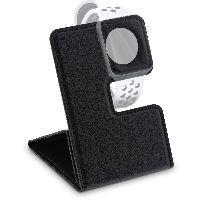 InLine 55260 InLine® Reise-Ständer für Apple Watch für Nachttisch, Schreibtisch, Regal, schwarz, fal