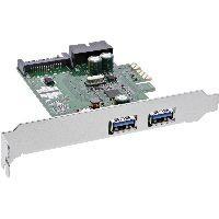 InLine 76666E InLine® Schnittstellenkarte, 4x USB 3.0, (2+2) PCIe, inkl. Low-Profile Slotblech