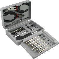 InLine 43012 InLine® Heim und Hobby Werkzeugset, 25-teilig, mit Kunststoff Etui