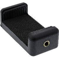 InLine 48090H InLine® Universal Handyklemme, für Selfiestick, Smartphone Stativ Adapter, uvm. in sch
