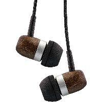 InLine 55357 InLine® woodin-ear, In-Ear Headset mit Kabelmikrofon und Funktionstaste, Walnuß