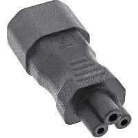 InLine 16723B InLine® Netzadapter IEC 60320 C14 / C5, 3pol. Kaltgeräte / Notebook