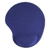 InLine 55453B InLine® Maus-Pad, blau, mit Gel Handballenauflage, 230x205x20mm