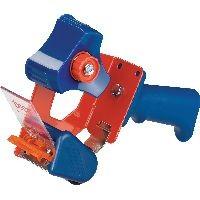 tesa 06300-00001-00 tesa Packbandhandabroller Economy, bis 66m x 50mm, rot/blau