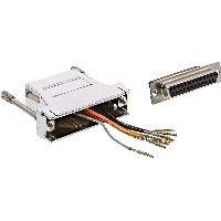 InLine 68889K InLine® Adapter, 25pol Sub D Buchse an RJ45 Buchse, metallisiert