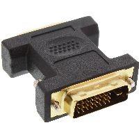 InLine 17760P InLine® DVI-D Adapter, Digital 24+5 Buchse an DVI-D 24+1 Stecker, verg. Kontakte