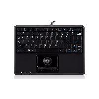 Perixx PERIBOARD-509 H PLUS US Perixx PERIBOARD-509 H PLUS US, Mini USB-Tastatur, Trackball, schwarz