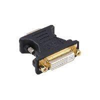 InLine 17790P InLine® DVI-A Adapter, Analog 24+5 Buchse auf 15pol HD Stecker (VGA), vergoldet